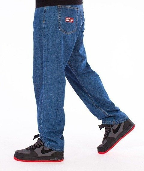 SmokeStory-Stair Pocket Baggy Jeans Light Blue
