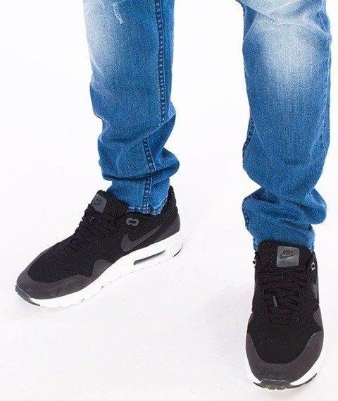 SmokeStory-Straight Fit Guma Spodnie Light z Przetarciami