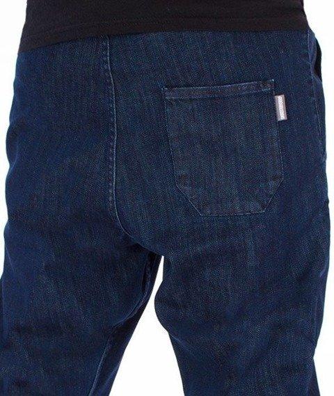 SmokeStory-Szary Dół Jogger Slim Spodnie Medium Blue