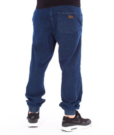 SmokeStory-Tag Jeans Jogger Regular Guma Spodnie Medium Blue
