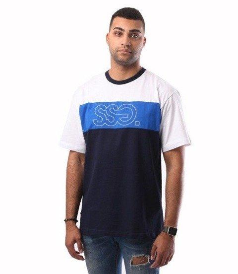 SmokeStory-Triple Outline T-Shirt Biały/Chaber
