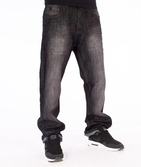 Southpole-Regular Straight Leg Spodnie Jeans Black Sand