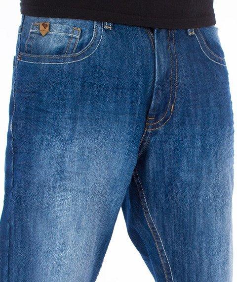 Southpole-Regular Straight Leg Spodnie Jeans Mid Sand Blue