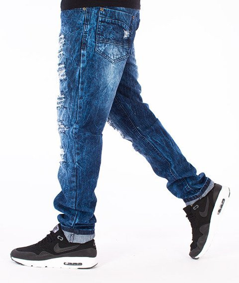 Southpole-Slim Straight Spodnie Jeans Dark Sand Blue