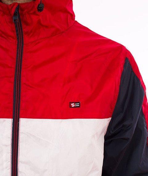 Southpole-Wind Series Jacket Color Block Windbreaker Kurtka Wiatrówka Red