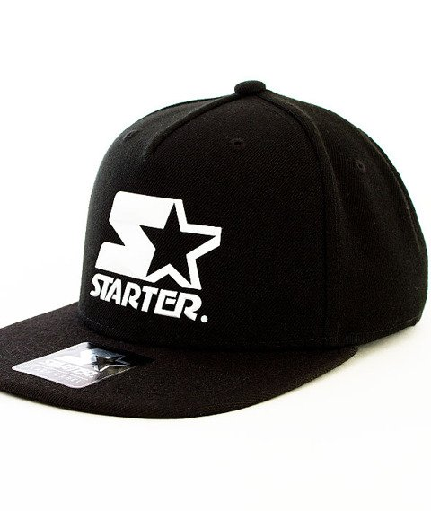 Starter-Crystal Wool Snapback Black