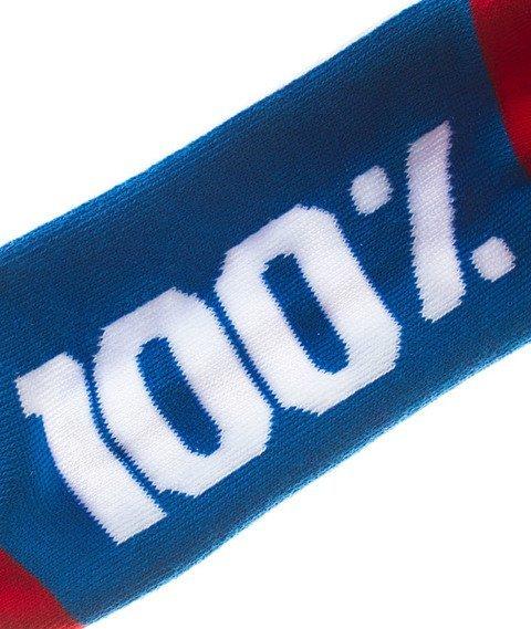 Stoprocent-100 Skarpetki Blue/Red