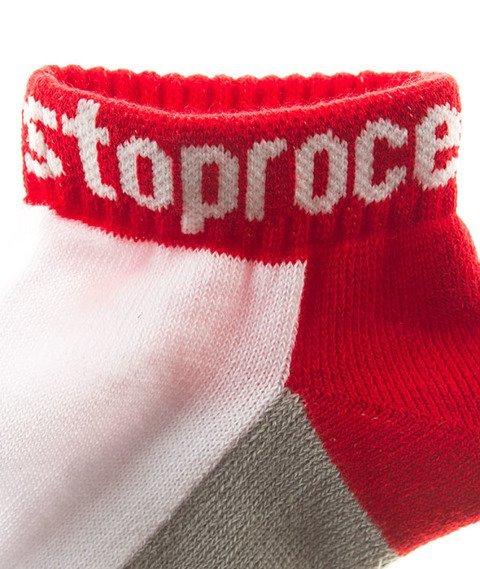 Stoprocent-100 Skarpetki Grey/Red