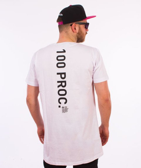 Stoprocent-100proc Long T-Shirt Biały