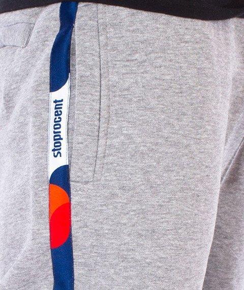 Stoprocent-Athletic Spodnie Dresowe Szare