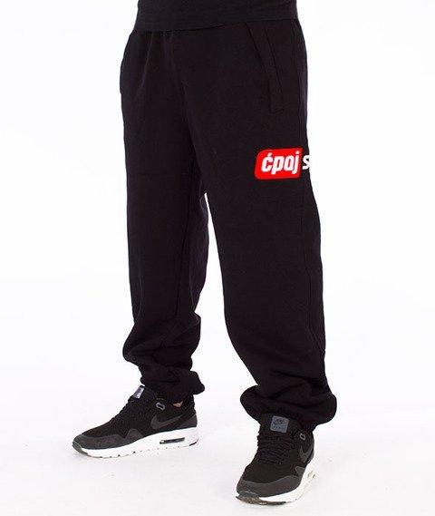 Stoprocent-CS Simple17 Spodnie Dresowe Czarne