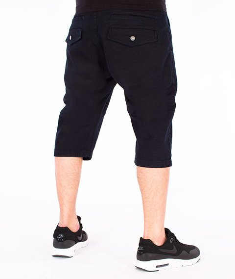 Stoprocent-Classic Chinos Spodnie Krótkie Czarne