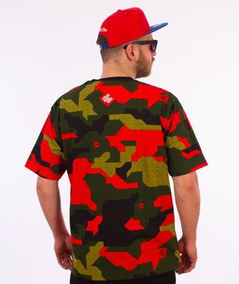 Stoprocent-Downhill 17 T-Shirt Camo/Czerwony