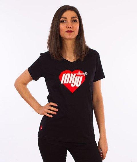 Stoprocent-Fakju T-Shirt Damski Czarny