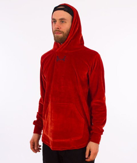 Stoprocent-Frotte Bluza Kaptur Red/Rust