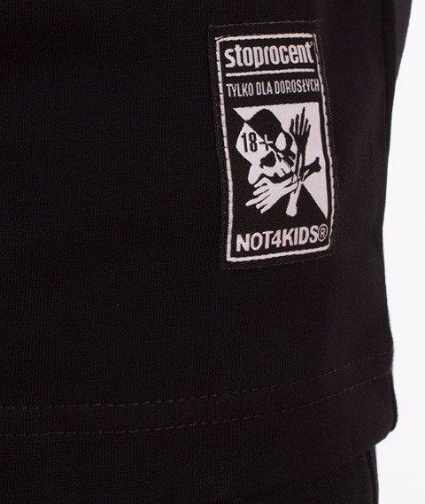 Stoprocent-Not4Kids Slim T-Shirt Czarny
