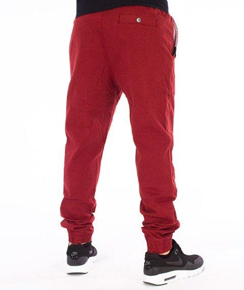 Stoprocent-SJ Jogger Classic17 Spodnie Bordowe