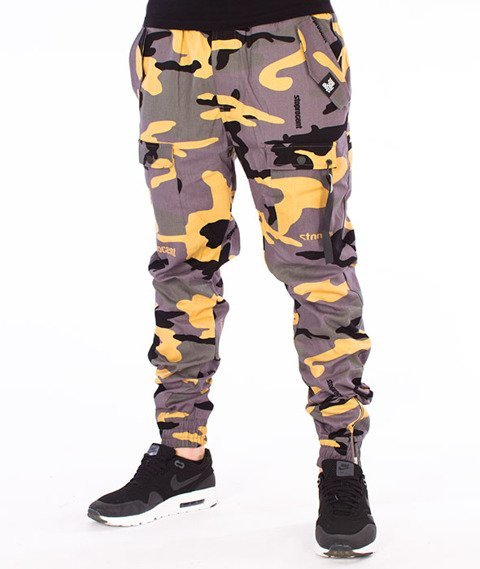 Stoprocent-SJ Jogger Survival17 Spodnie Camo Green