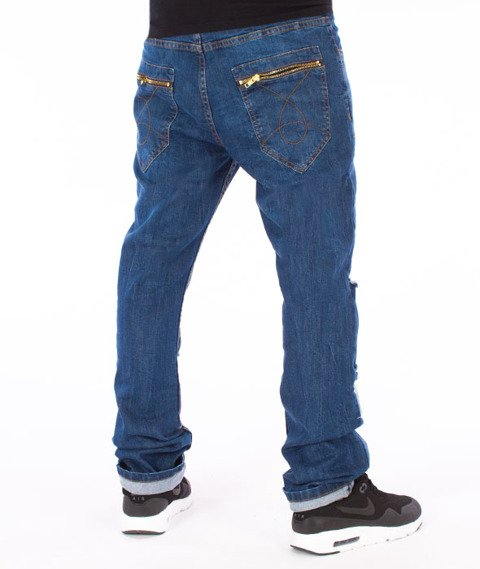 Stoprocent-SJ Slim Low Split Jeans Blue