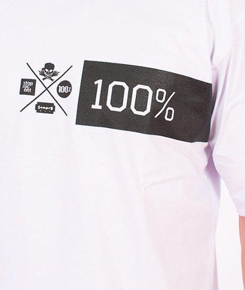 Stoprocent-Szeroko T-Shirt Biały