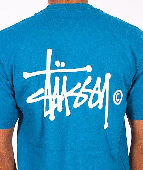 Stussy-Basic Logo T-Shirt Blue