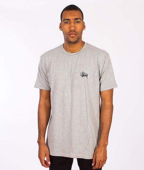 Stussy-Basic Logo T-Shirt Grey Heather