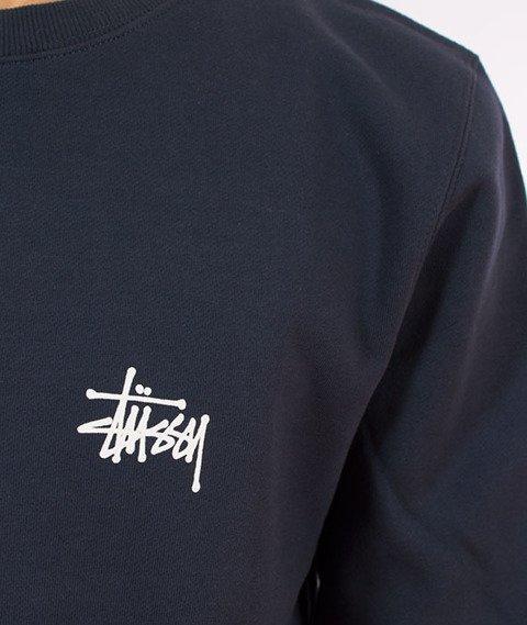 Stussy-Basic Stussy Crewneck Bluza Ink