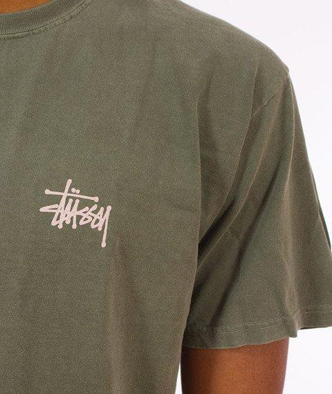 Stussy-Basic Stussy Pig. Dyed T-Shirt Olive
