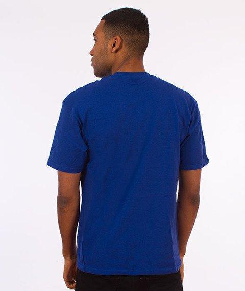 Stussy-Cracked T-Shirt Dark Blue