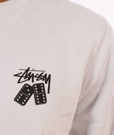 Stussy-Dominos Stussy Crewneck Bluza Fog