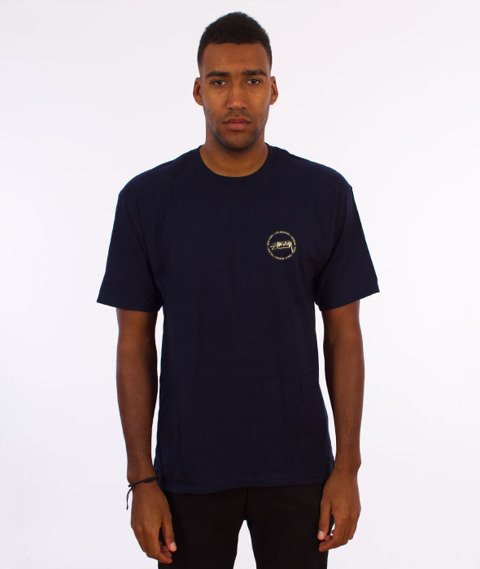 Stussy-International Dot T-Shirt Navy