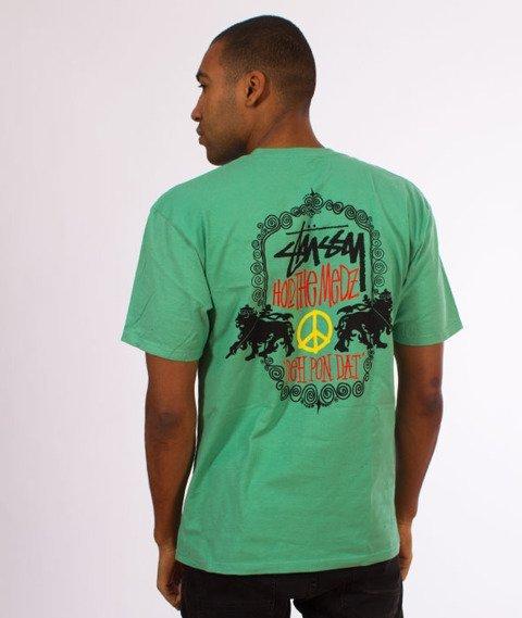 Stussy-Lion Shield T-Shirt Moss