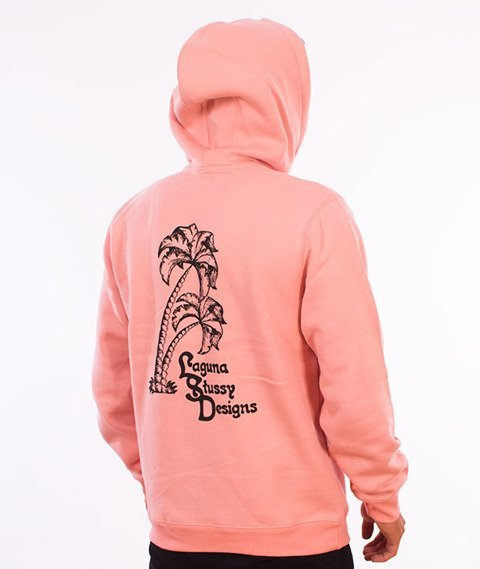 Stussy-Palms Applique Hood Bluza Kaptur Dusty Rose