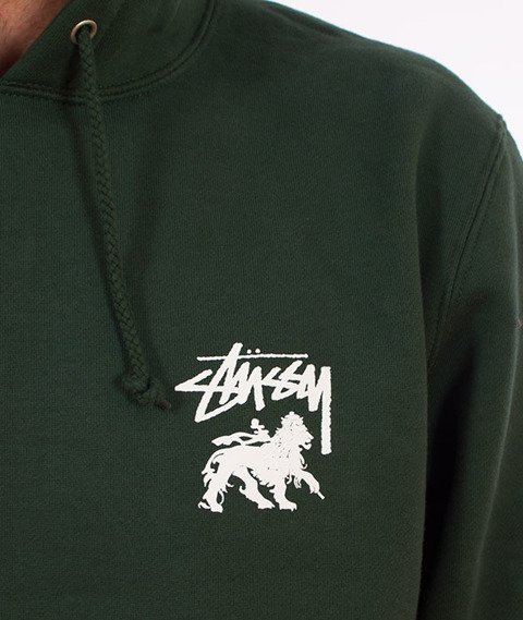 Stussy-Stock Lion Hood Bluza Kaptur Dark Forest