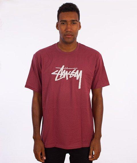 Stussy-Stock T-Shirt Jasny Bordowy