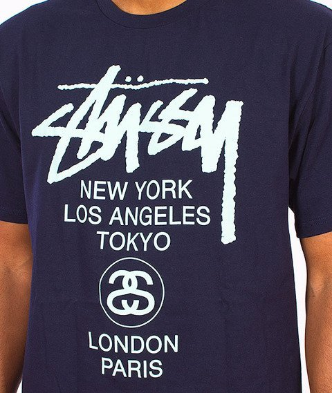 Stussy-World Tour T-Shirt Navy