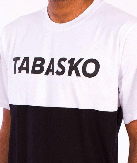 Tabasko-Panel T-Shirt Czarno/Biały