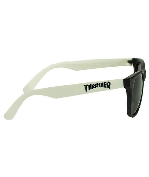 Thrasher-Logo Okulary Czarne/Białe