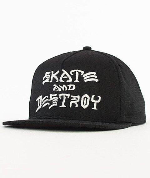 Thrasher-Skate And Destroy Snapback Czarny