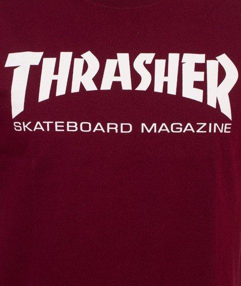 Thrasher-Skate Mag T-Shirt Bordowy
