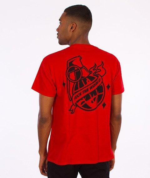 Trash-Fuck The World T-shirt Czerwony