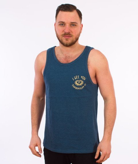 Turbokolor-I See You Tank-top Heather Navy