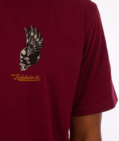 Turbokolor-Petrol T-Shirt Burgundy