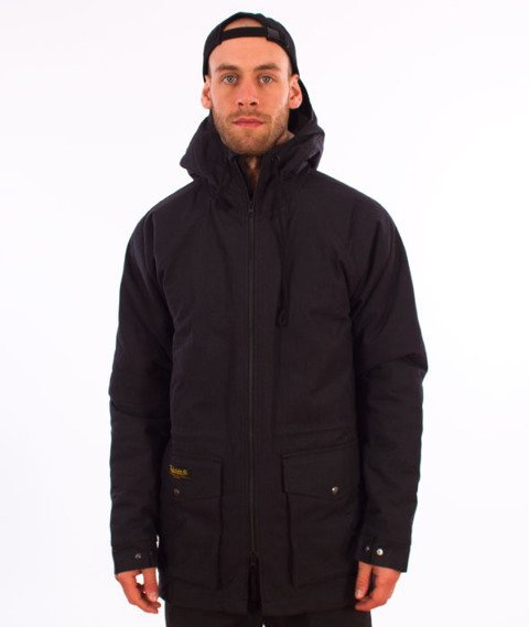Turbokolor-Simple Thread Parka Jacket Black