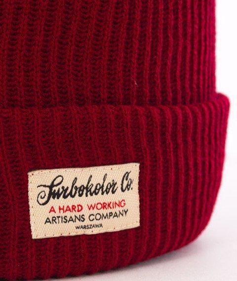 Turbokolor-Simple Thread Tag Beanie Burgundy