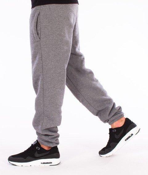 Unhuman-Classic Jogger Slim Spodnie Dresowe Szare