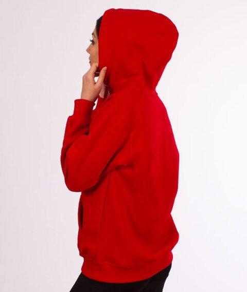 "Unhuman-Classic ""U"" Hoodie Bluza Czerwona"