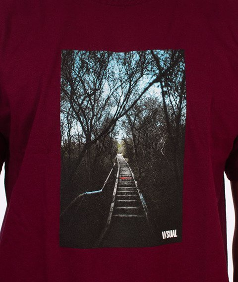 Visual-Entryway T-Shirt Maroon