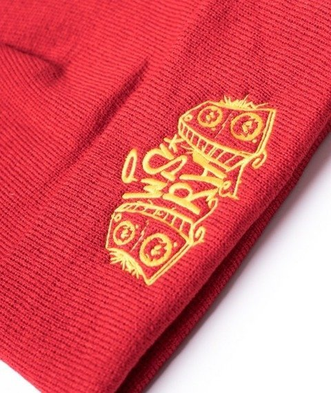 WSRH-Classic Logo Czapka Zimowa Wywijana Czerwona/Żółta