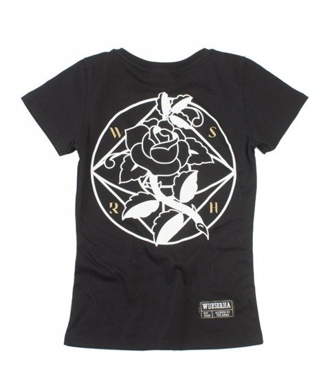 WSRH-Róża T-shirt Damski Czarny
